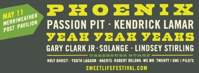 More Festival Goodness! Sweetlife Lineup Include YYYs, Phoenix, and Solange